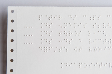 Une impression en Braille