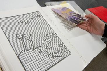 Traduction graphique et tactile d'une oeuvre de Monet