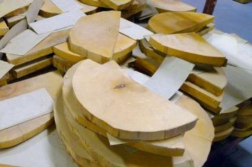 Morceaux de bois au Hamilton Wood Type and Printing Museum
