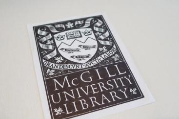 Ex-libris de l'Université McGill