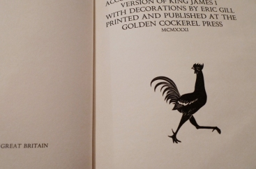 Eric Gill, Golden Cockerel Press, 1931