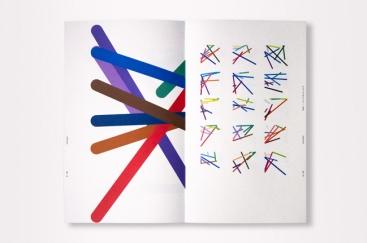 16 variations d'un ensemble de 8 figures (livre Colorimétrie).