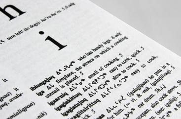 Ulirnaisigutiit, dictionnaire inuktitut-anglais de Lucien Schneider