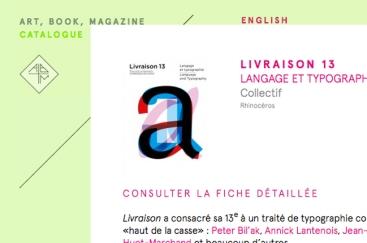 Aperçu du catalogue en ligne de Art, Book, Magazine