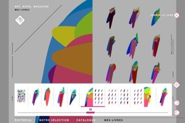 Interface de la version numérique du livre Colorimétrie