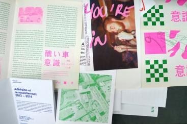 Projets imprimés sur le risographe de Charmant & Courtois