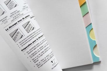 Échantillon d'onglets européens, RSP reliure