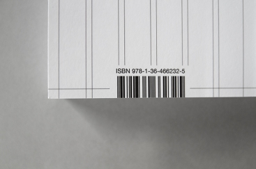 Code-barres retranché, couverture arrière de la maquette de Blurb